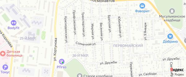 Мирная улица на карте Октябрьского с номерами домов