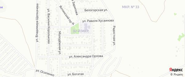 Олимпийская улица на карте Октябрьского с номерами домов