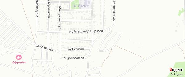 4-я улица на карте 40-й микрорайона с номерами домов