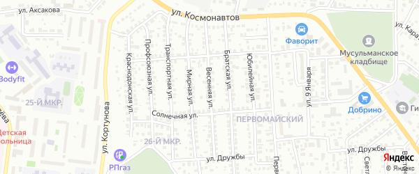 Весенняя улица на карте Октябрьского с номерами домов