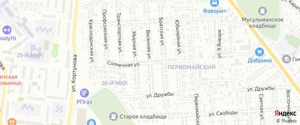 Солнечная улица на карте Октябрьского с номерами домов