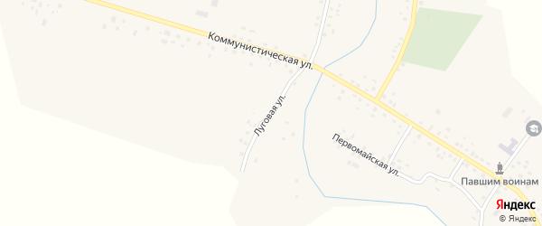 Луговая улица на карте села Рятамака с номерами домов