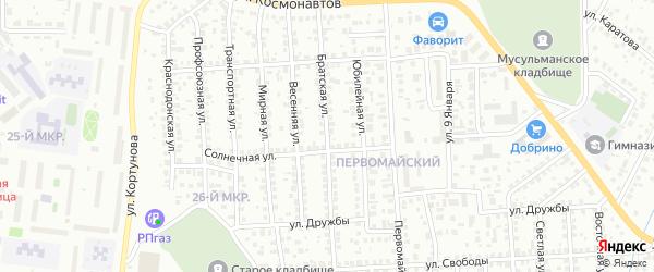 Братская улица на карте Октябрьского с номерами домов