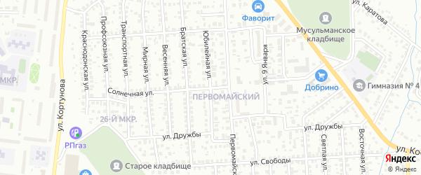 Юбилейная улица на карте Октябрьского с номерами домов