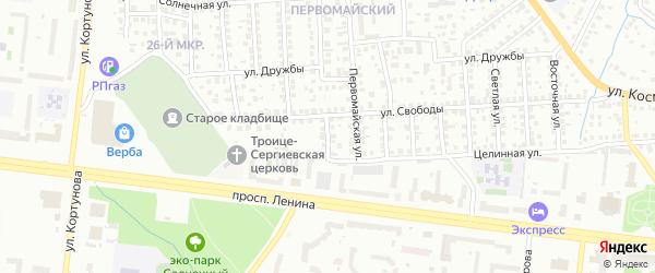 1-я улица на карте 37-й микрорайона с номерами домов