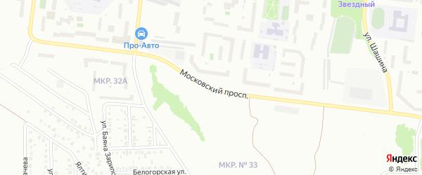 Улица Московский проспект на карте Октябрьского с номерами домов
