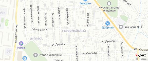 Первомайский ГСК на карте Октябрьского с номерами домов