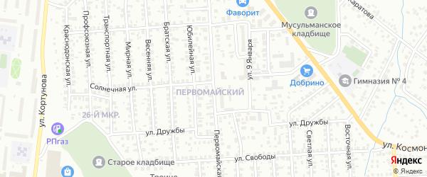 Первомайская улица на карте Октябрьского с номерами домов