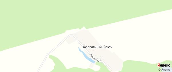 Лесная улица на карте деревни Холодного Ключа с номерами домов
