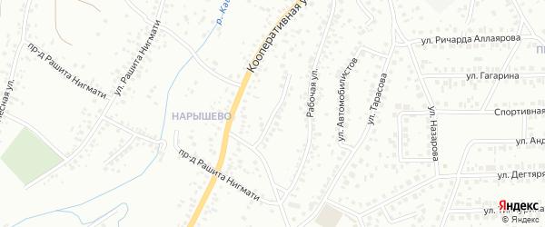 Кооперативный тупик на карте Октябрьского с номерами домов