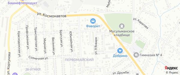 9 Января 1-й проезд на карте Октябрьского с номерами домов