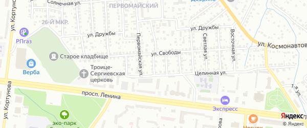 Свободы 2-й проезд на карте Октябрьского с номерами домов