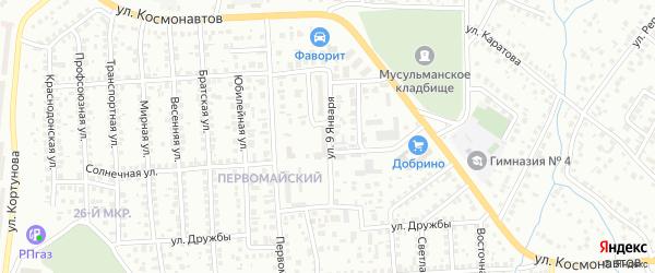 Улица 9 Января на карте Октябрьского с номерами домов