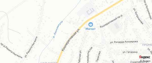 Кооперативная улица на карте Октябрьского с номерами домов