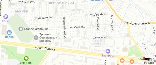 Свободы 3-й проезд на карте Октябрьского с номерами домов