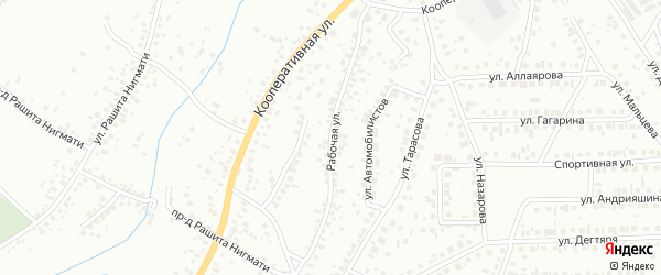Рабочая улица на карте Октябрьского с номерами домов