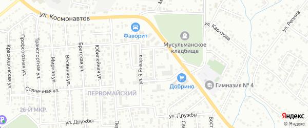 9 Января 2-й проезд на карте Октябрьского с номерами домов