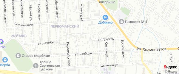 Промышленная улица на карте Октябрьского с номерами домов