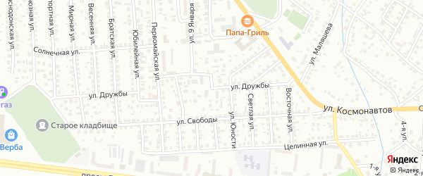 Улица Дружбы на карте Октябрьского с номерами домов