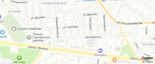 Интернациональная улица на карте Октябрьского с номерами домов