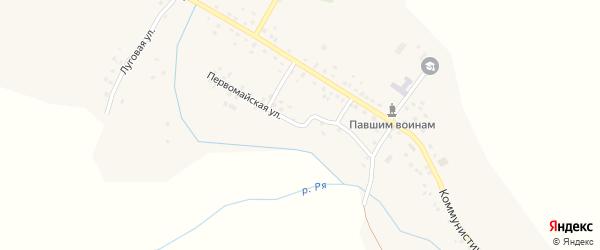 Первомайская улица на карте села Рятамака с номерами домов