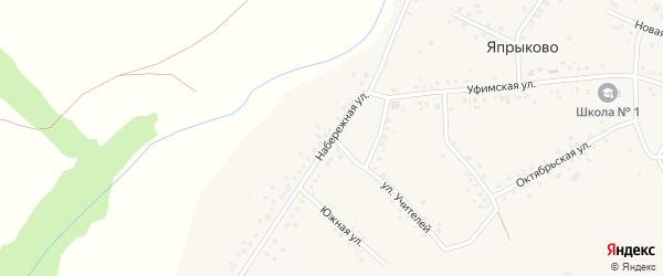 Набережная улица на карте села Япрыково с номерами домов