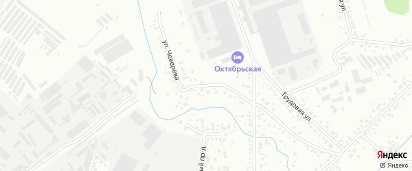 Улица Чеверева на карте Октябрьского с номерами домов