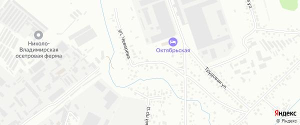 Тупик Чеверева на карте Октябрьского с номерами домов