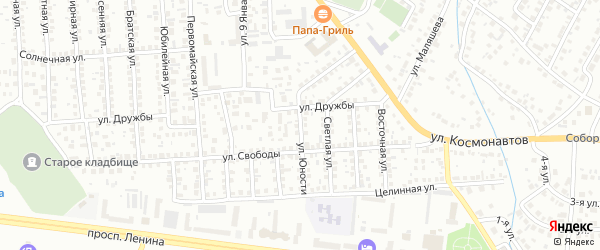 Улица Юности на карте Октябрьского с номерами домов