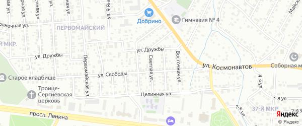 Светлая улица на карте Октябрьского с номерами домов