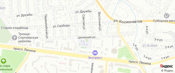 Целинная улица на карте Октябрьского с номерами домов