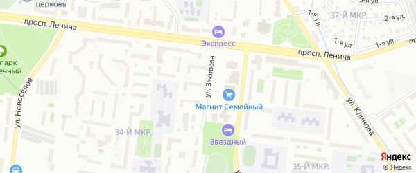 Улица Закирова на карте Октябрьского с номерами домов