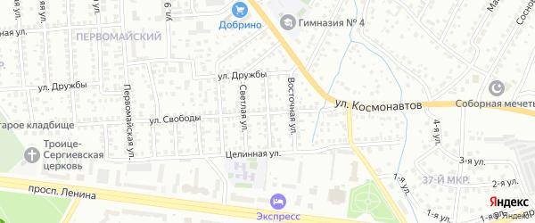 Ленинградская улица на карте Октябрьского с номерами домов
