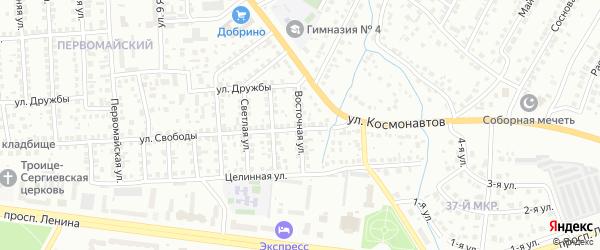 Восточная улица на карте Октябрьского с номерами домов