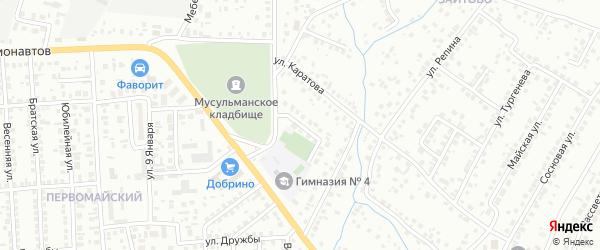 Тупик Каратова на карте Октябрьского с номерами домов