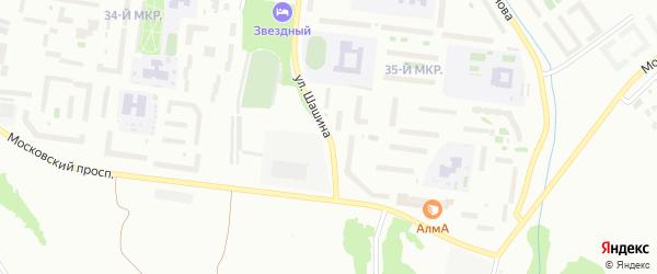 Улица Шашина на карте Октябрьского с номерами домов