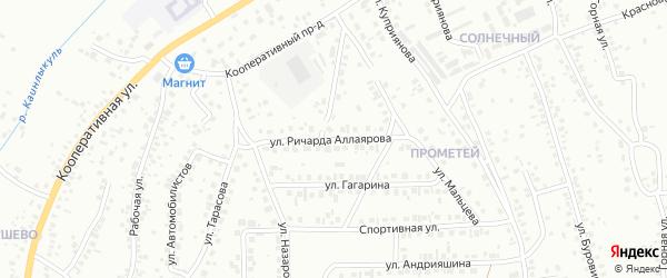 Улица Р.Аллаярова на карте Октябрьского с номерами домов