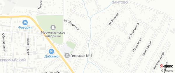Улица Каратова на карте Октябрьского с номерами домов
