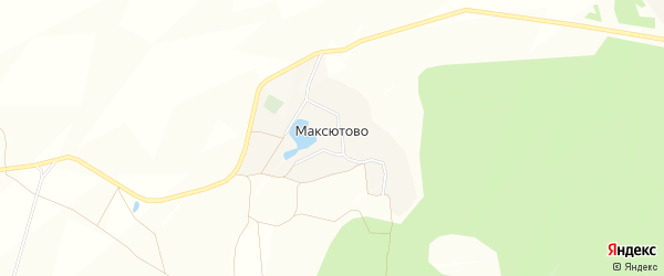 Карта деревни Максютово в Башкортостане с улицами и номерами домов