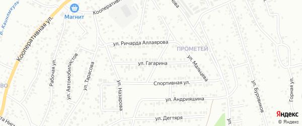 Улица Гагарина на карте Октябрьского с номерами домов