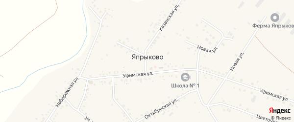 Улица Учителей на карте села Япрыково с номерами домов
