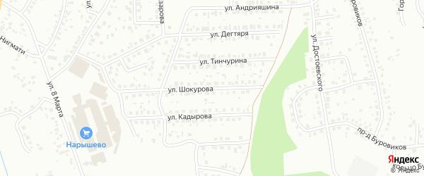 Улица Шокурова на карте Октябрьского с номерами домов