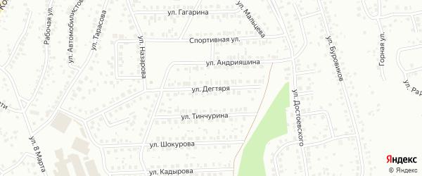 Улица Дегтяря на карте Октябрьского с номерами домов