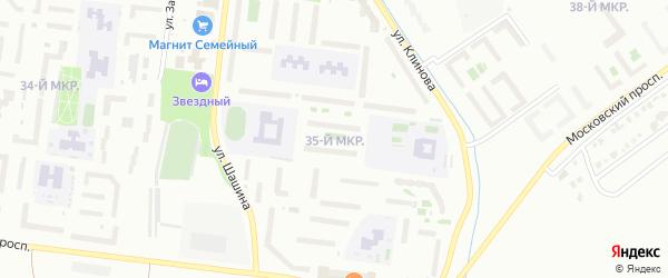 35-й микрорайон на карте Октябрьского с номерами домов