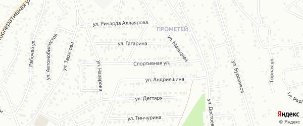 Спортивная улица на карте Октябрьского с номерами домов