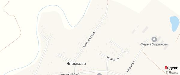 Казанская улица на карте села Япрыково с номерами домов