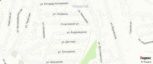 Улица Андрияшина на карте Октябрьского с номерами домов