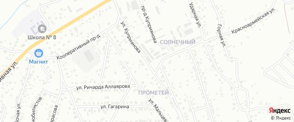 Проезд Куприянова на карте Октябрьского с номерами домов