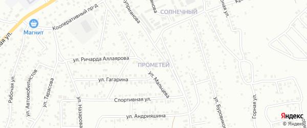 Улица Прометей на карте Октябрьского с номерами домов