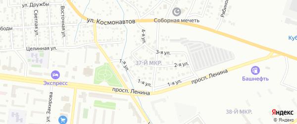 4-я улица на карте 37-й микрорайона с номерами домов
